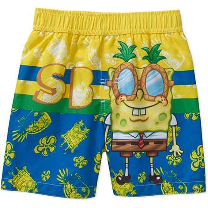 370a96bd228e6 Nickelodeon Baby Boys' Spongebob Squarepants Swim Trunks (18 Months ...