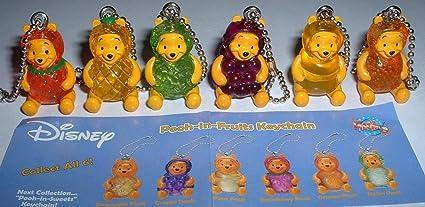 Winnie the Pooh figura llavero en forma de frutas Set ...
