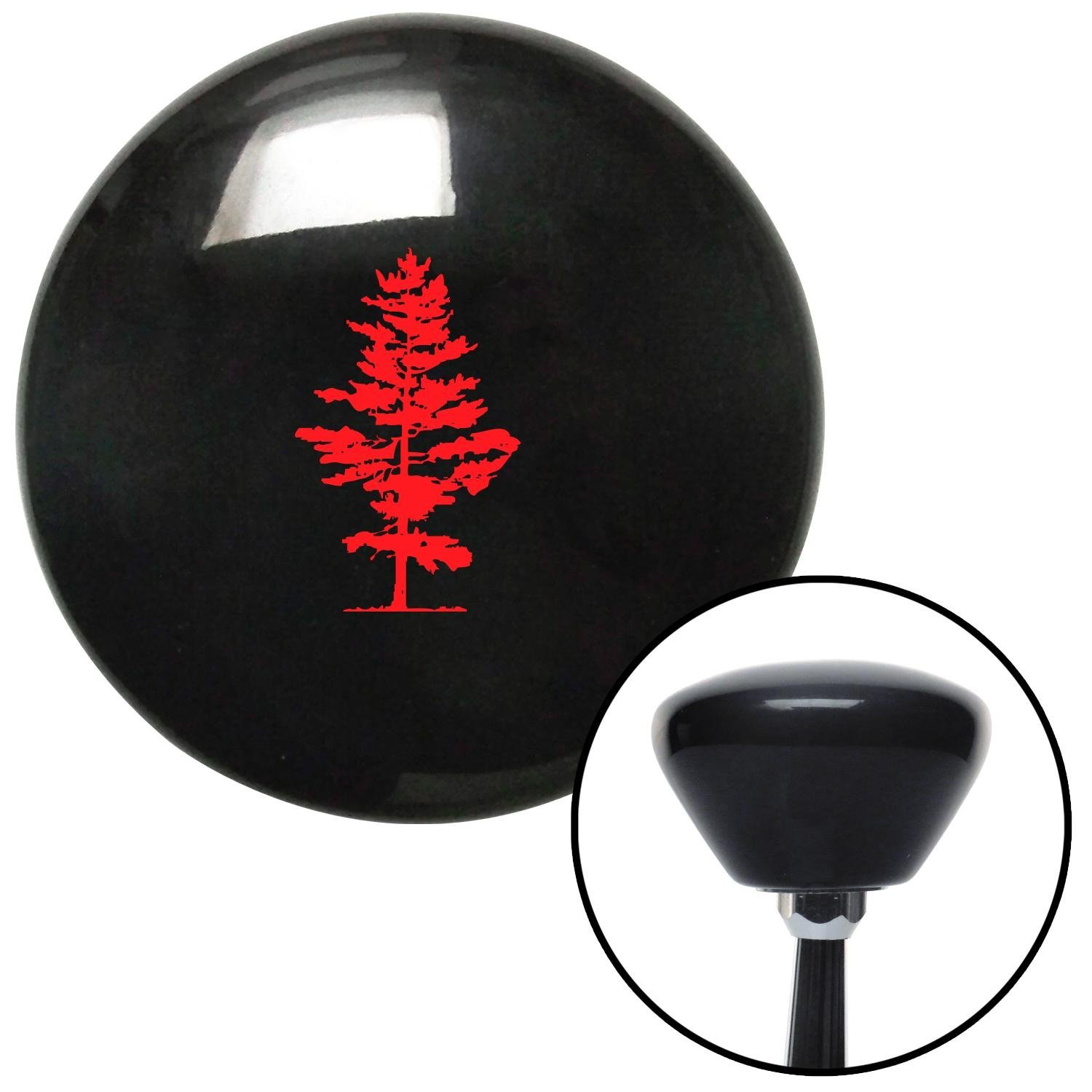 American Shifter 147251 Black Retro Shift Knob with M16 x 1.5 Insert Red Evergreen Tree