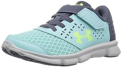 Under Armour Girls  Pre School Rave Adjustable Closure Sneaker Blue  Infinity (942)  f137fdd0d41