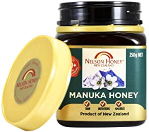 Bee Zesty Natural Manuka Honey, 200+MG Factor, 250g (.55lbs), Genuine New Zealand non-GMO - BPA Free Jar - 100% guaranteed (Ability to easily access test results by using the Jar Batch code feature)