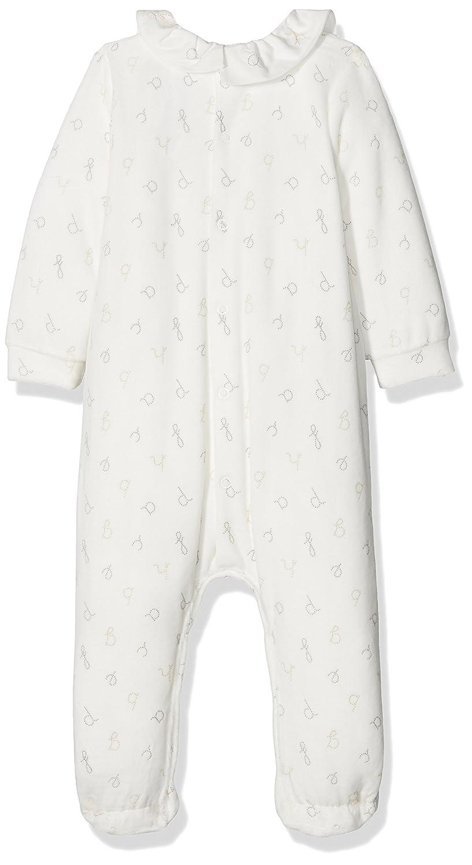 Tutto Piccolo P.CAMUS 3197W17, Pelele Largo con pie para Bebés, White-Grey, 6M: Amazon.es: Ropa y accesorios