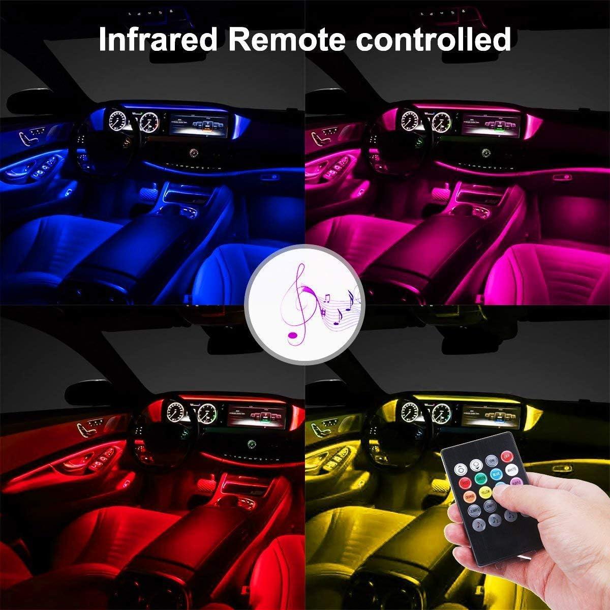 APP SEAMETAL Neon Car LED Lights Interior LED Strip Lights Under Dash fot Automobile SUV Hatchback 48PCS
