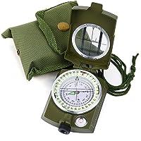 Sportneer Militär linsatisk siktkompass med bärväska, vattentät och skakbeständig, armégrön