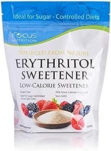 Focus Nutrition, Sugar-Free, Non-GMO, Gluten-Free Erythritol Low Calorie Sweetener - 1 lb. Ziplock Bag