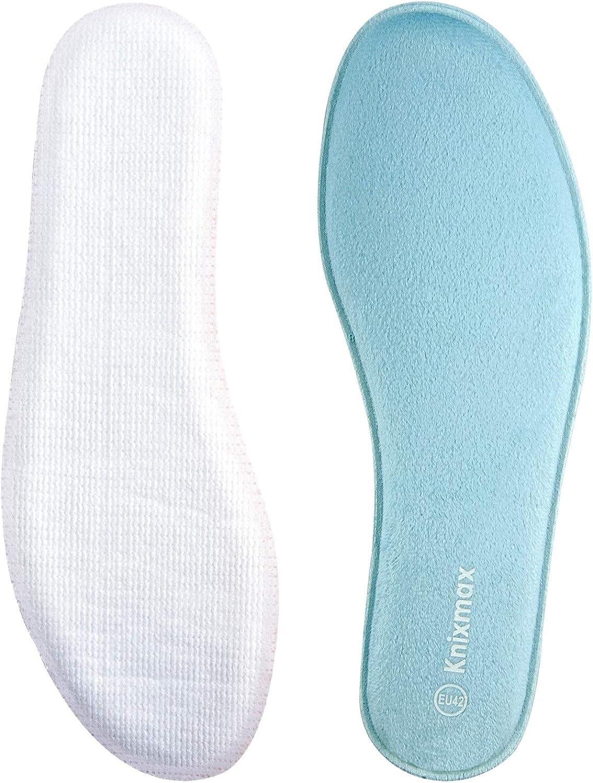 Knixmax Plantillas Memory Foam Para Zapatos De Mujer Y Hombre Plantillas Confort Amortiguadoras Cómodas Y Flexibles Para Trabajo Deportes Caminar Senderismo 35 47 Eu Amazon Es Zapatos Y Complementos