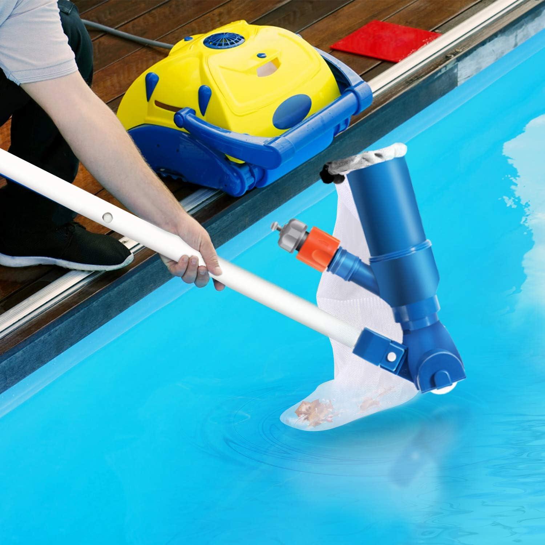 Gafild Los Accesorios del Kit de Limpieza Limpieza de la Piscina de la Red del Aspirador del vacío de la Piscina con la Red del Skimmer de la Hoja de la Piscina