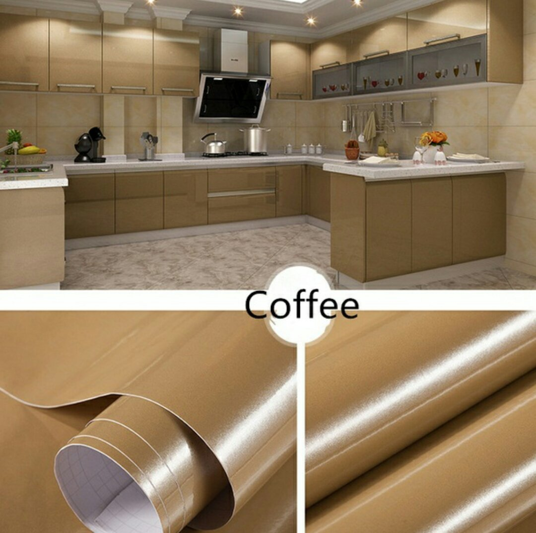 Buy Total Home Pvc Waterproof Bathroom Kitchen Backsplash Cabinet Vinyl Self Adhesive Wall Paper Countertop Wall Sticker (24  X 118  Inch) (Coffee) Online ... & Buy Total Home Pvc Waterproof Bathroom Kitchen Backsplash Cabinet ...