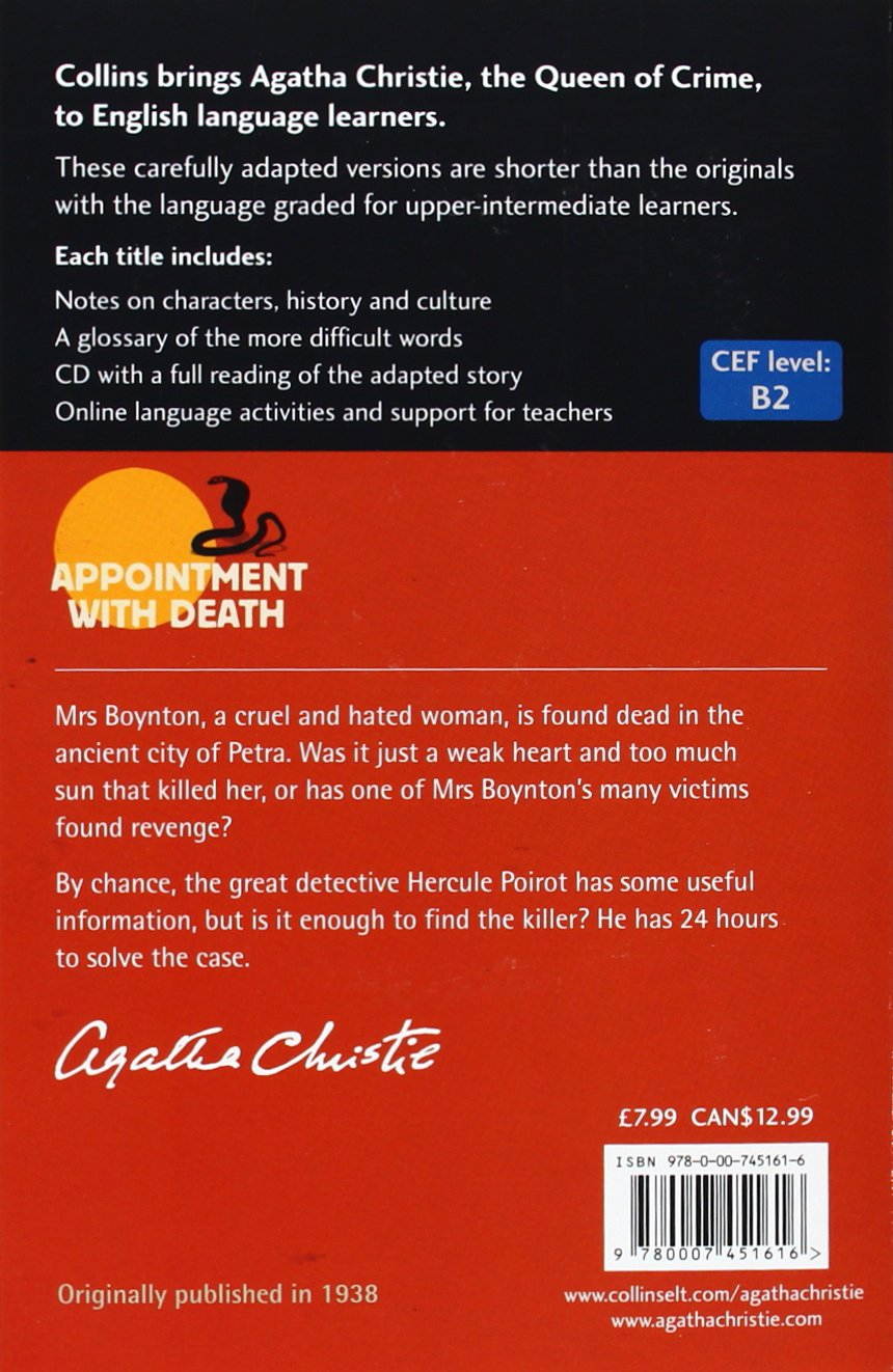Appointment With Death (collins English Readers): Agatha Christie:  9780007451616: Amazon: Books