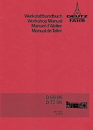 Hydraulik D6806 Werkstatthandbuch Deutz Fahrgestell Getriebe