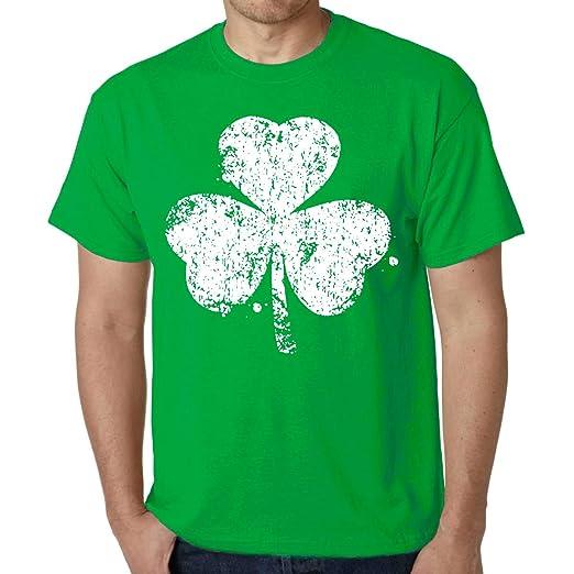 b1bb2c39 Amazon.com: fresh tees Distressed Shamrock ST. Patrick's Day Shirt Irish  Shirts: Clothing