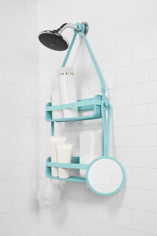35,56 x 14,61 x 1,91 cm Umbra 023463-276 Flex Douche Miroir Bleu Surf Plastique