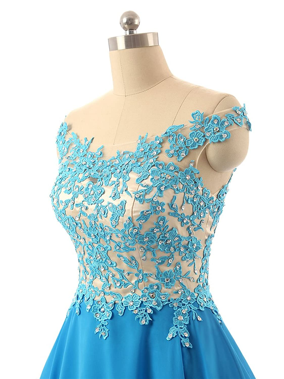 FNKS Women\'s Straps Lace Bodice Short Prom Gown Homecoming Party ...
