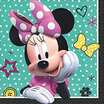 Amazon.com: Disney Minnie Beverage Servilletas Fiesta de ...