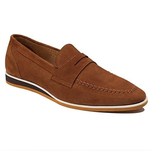 Scottwilliams Amati Premium - Mocasines para Hombre, Marrón (Caramelo), P39