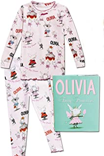 product image for Books to Bed Olivia Long Sleeve Pajamas with Book