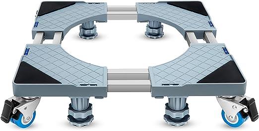 KUNLUN Movable Base,Refrigerator Base,Washing Machine Base,Wheels for Refrigerator 8 Locking Wheels and 4 Feet