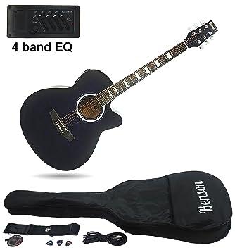 Benson tamaño completo guitarra eléctrica semiacústica con diseño de piel de tigre: Amazon.es: Instrumentos musicales