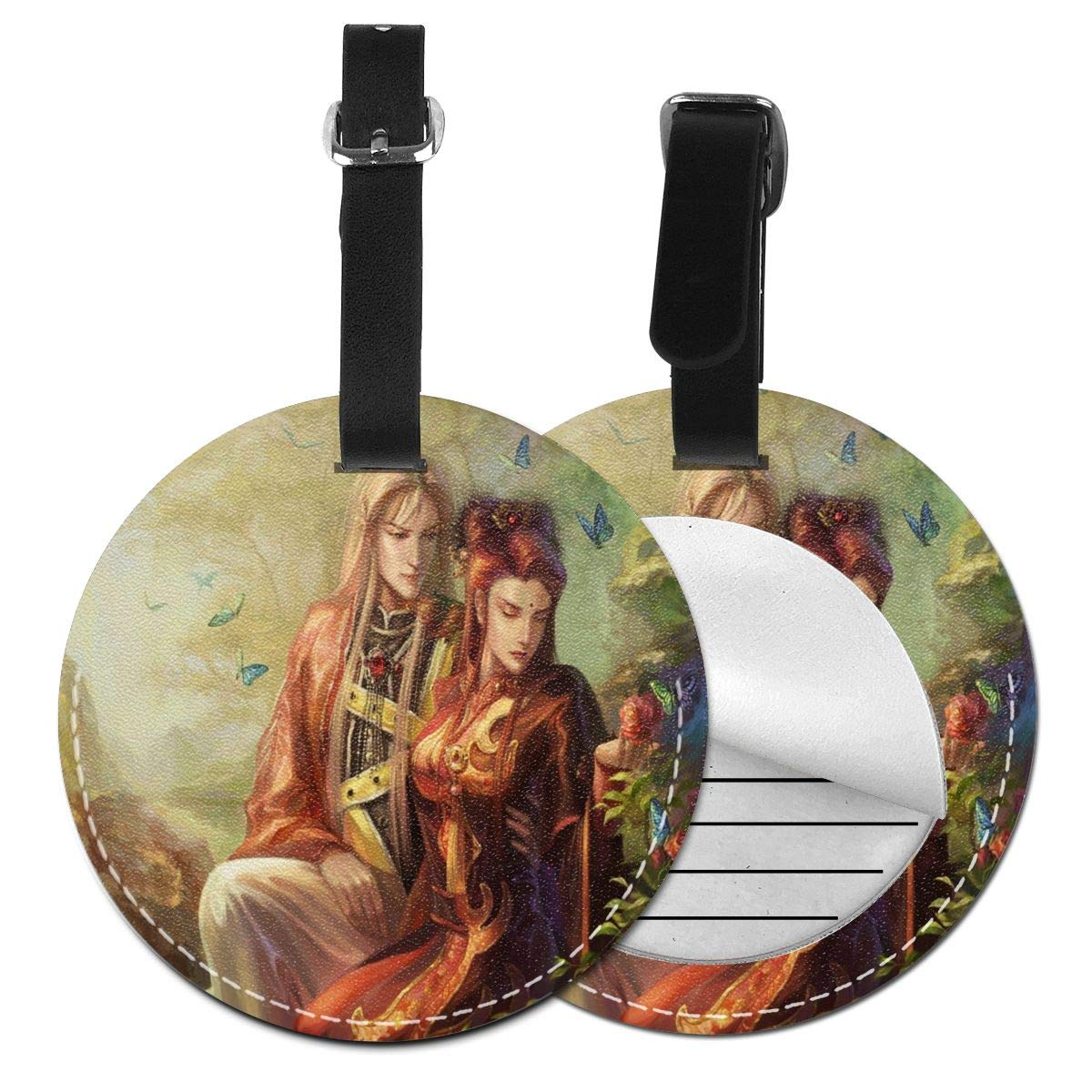 Image Love Fantasy Round Luggage Tags Suitcase Labels Bag Travel Accessories Tough 4 Pack by Rachel Dora