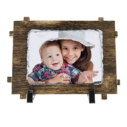 Amazon Personalized Picture Frames Rectangle Shape Wood Rock