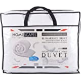 Homescapes Double 13.5 Tog - Luxury White Goose Feather & Down Duvet - 100% Cotton Anti Dust Mite & Down Proof Fabric - Anti Allergen - Washable at Home Winter Quilt
