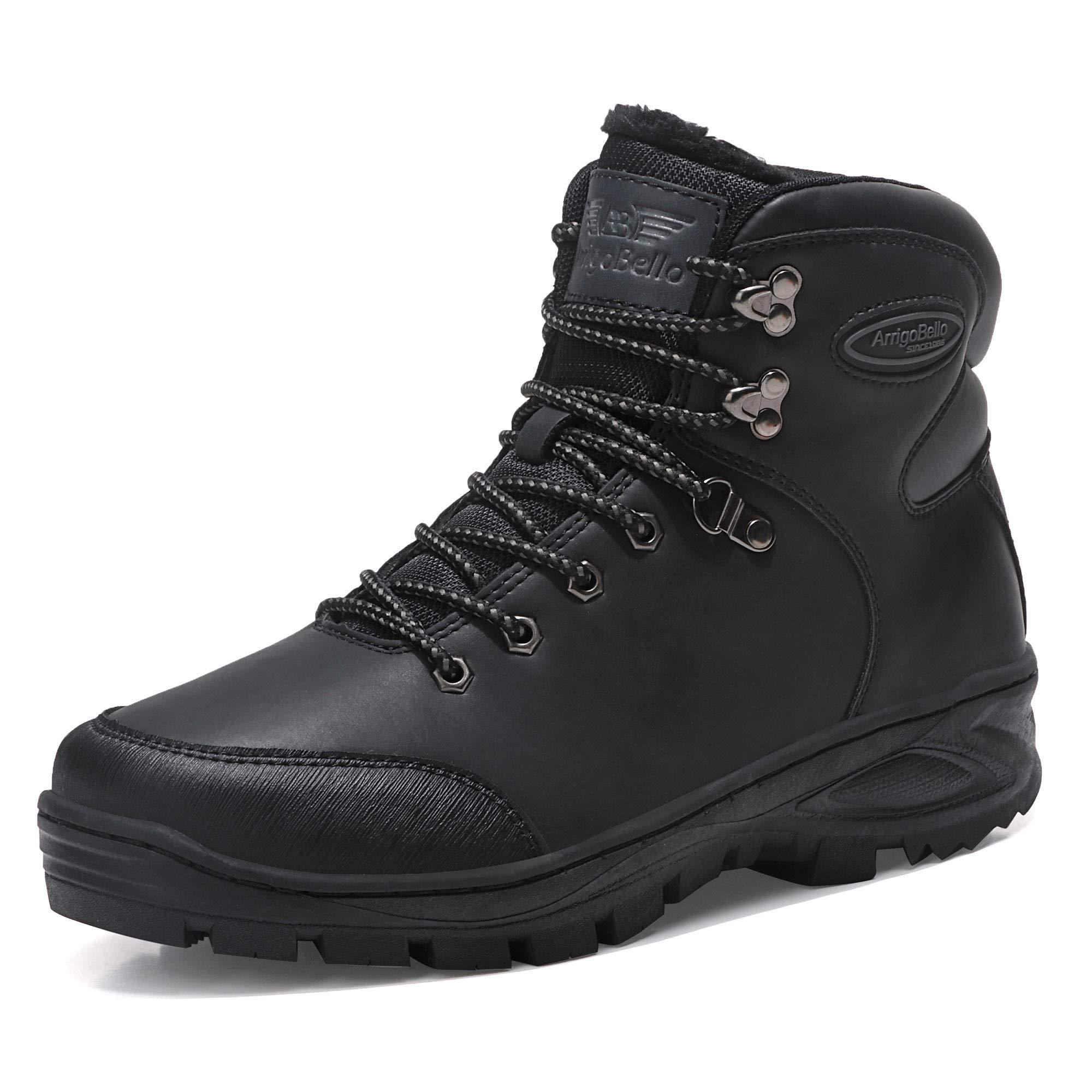 AX BOXING Uomo Stivali da Neve Invernali Scarpe Allineato Pelliccia  Caloroso Caviglia Piatto Stivaletti Sportive Boots c6549eb2ec5