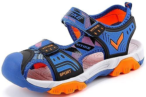 b44b3ea7f Sandalias del Niño de Verano Las Zapatillas de Deporte Sandalias Velcro  para Niño Zapatillas de Deporte Al Aire Libre  Amazon.es  Zapatos y  complementos