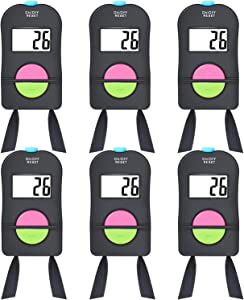 Frienda 6 Pieces Digital Hand Tally Counter Golf Sports Counter, Electronic Add/Subtract Manual Clicker Handheld Number Clicker with Lanyard