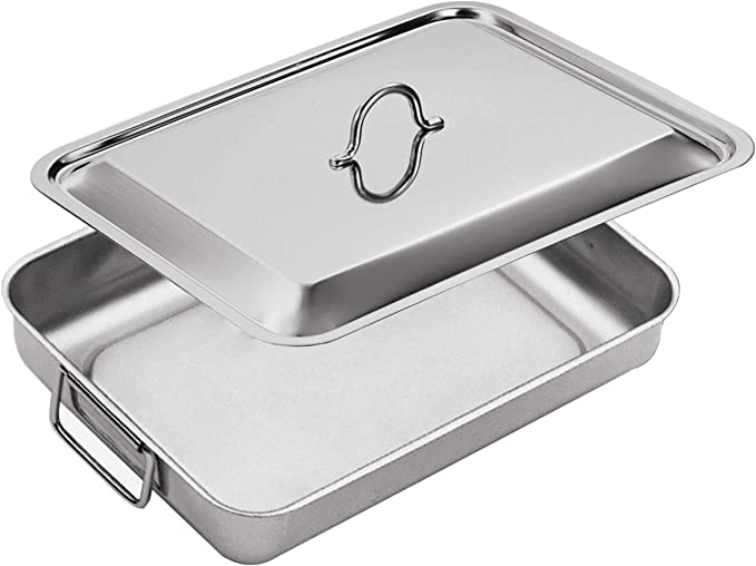 inoxriv 120301IN fuente para horno de acero inoxidable-tapa, 35 x ...