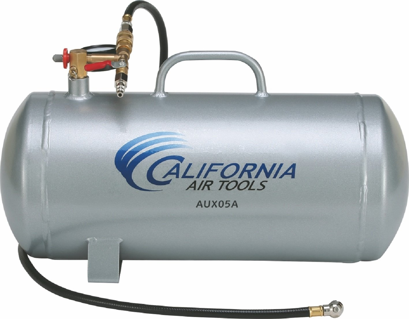 California Air Tools CAT-AUX05A 5 gallon Lightweight Portable Aluminum Air Tank, Silver