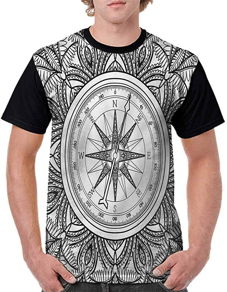 Unisex T-Shirt,Wind Rose Compass Art Fashion Personality Customization