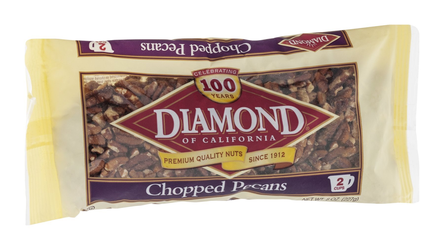 Diamond Of California Pecans Chopped 8OZ (Pack of 24)