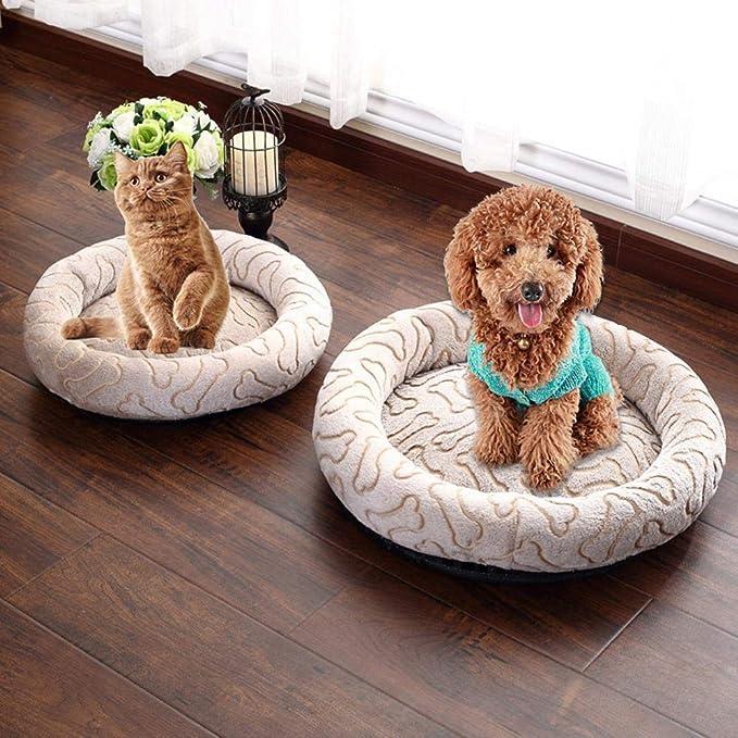 KOBWA - Cama Redonda Lavable para Perro, Cama para Perros pequeños, Gruesa, Antideslizante, Pelo Antiadherente, Suave y cómoda, para Mascotas, caseta para ...