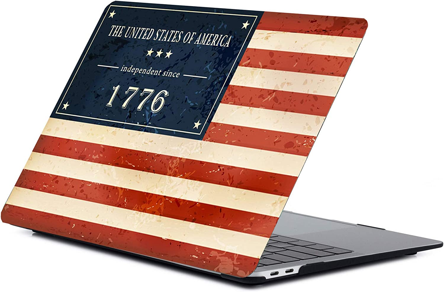 A1932 /& A2179 American Flag Patriotic Premium MacBook Air 13 Inch Case 2020 2019 2018 New Version Plastic Hard Shell Case Cover for MacBook Air 13 with Touch Id and Retina Display