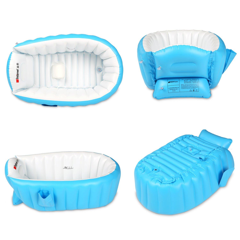 Amazon.com: Biubee Baby Inflatable Bathtub - Air Bath Basin with ...