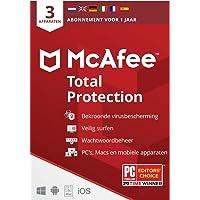 McAfee Total Protection 2021 |3 apparaten |1 jaar | antivirussoftware, internetbeveiliging, wachtwoordbeheer, Mobile…