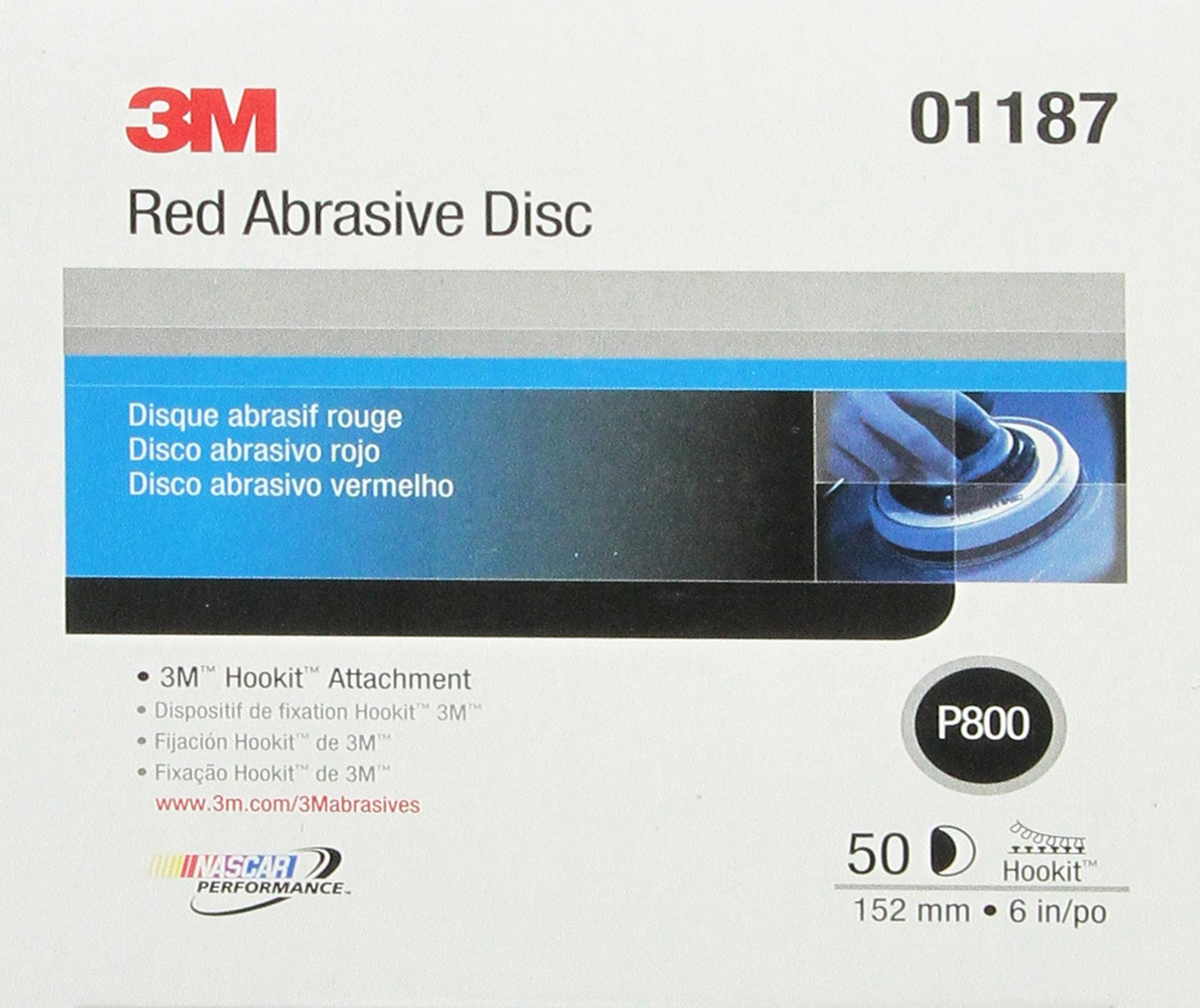 3M 01677 Hookit Red 8 P80 Grit D Weight Abrasive Disc