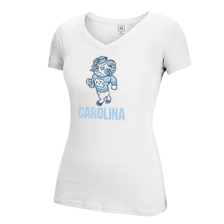 Small White J America NCAA North Carolina Tar Heels Womens Large Mascot Essential Tee