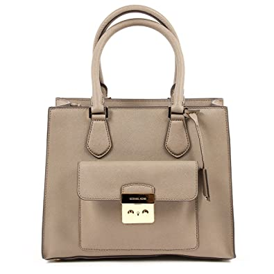 6f5f5e6dd411 MICHAEL Michael Kors Bridgette Medium Saffiano Leather Tote - Dark Dune   Handbags  Amazon.com