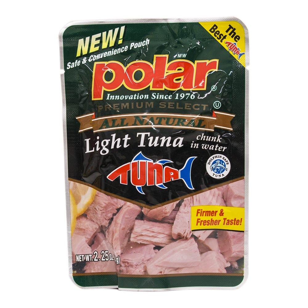 MW Polar Polar All Natural Chunk Light Tuna in a Pouch, 2.25 Ounce (Pack of 12)