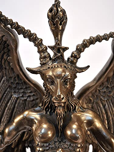 Baphomet Horned Goat God Statue – 15 – Cold Cast Bronze Resin by Maxine Miller
