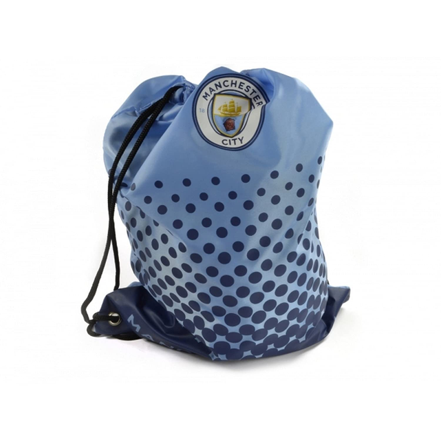 Manchester City FC Official Football Fade Design Gym Bag (One Size) (Light Blue/Navy)