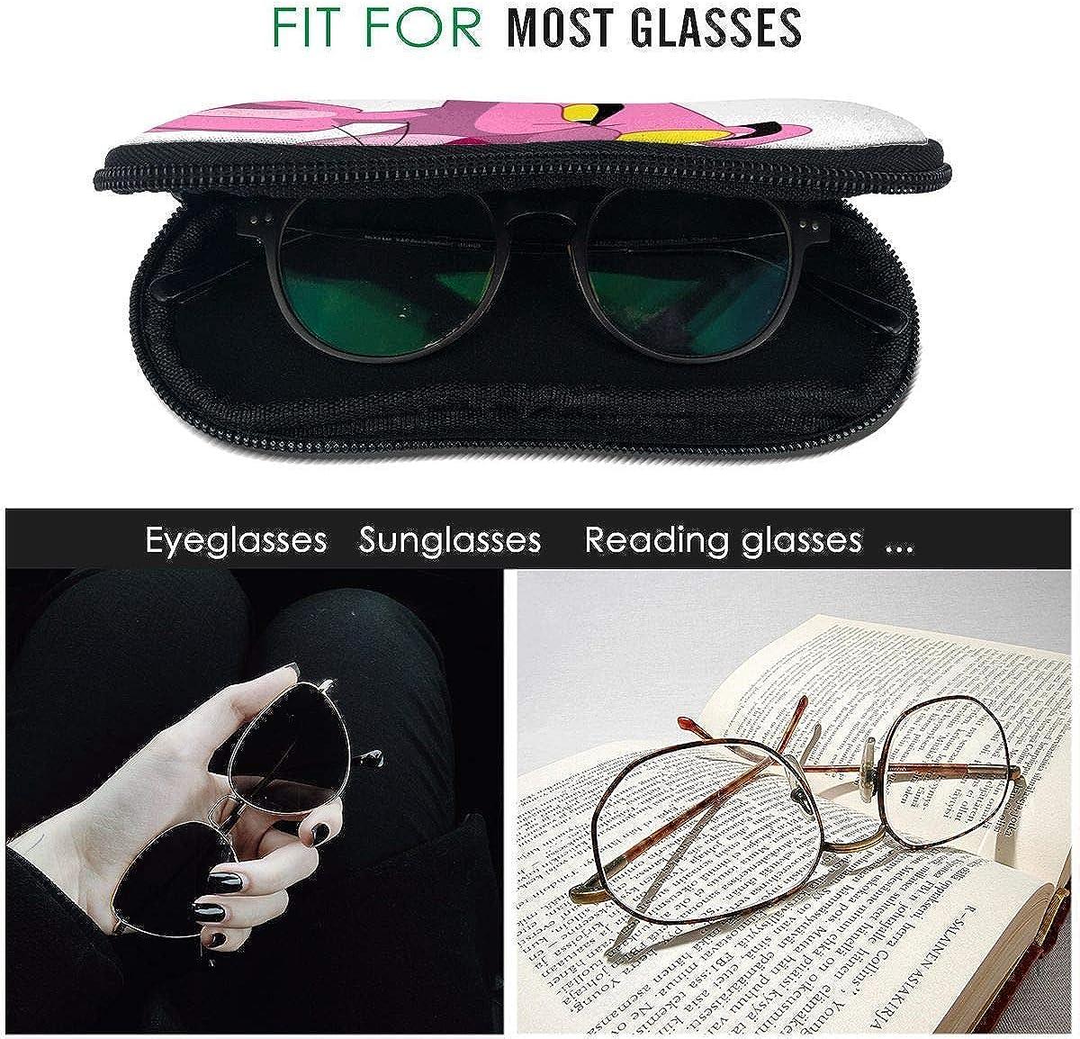 oficina cremallera con gancho para escuela Estuche para gafas Keith-Haring port/átil para gafas de sol fitness viajes bolsa suave