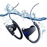 TrendHolders Bluetooth Headphones, Best Wireless Sports Earphones w/ Mic IPX7 Waterproof HD Stereo Sweatproof Earbuds for Gym Running Workout 12 Hour Battery Noise Cancelling Headsets (Blue)