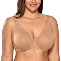 DELIMIRA AISILIN Women's Plus Size Minimizer Bra Underwire Unlined Seamless Full Coverage