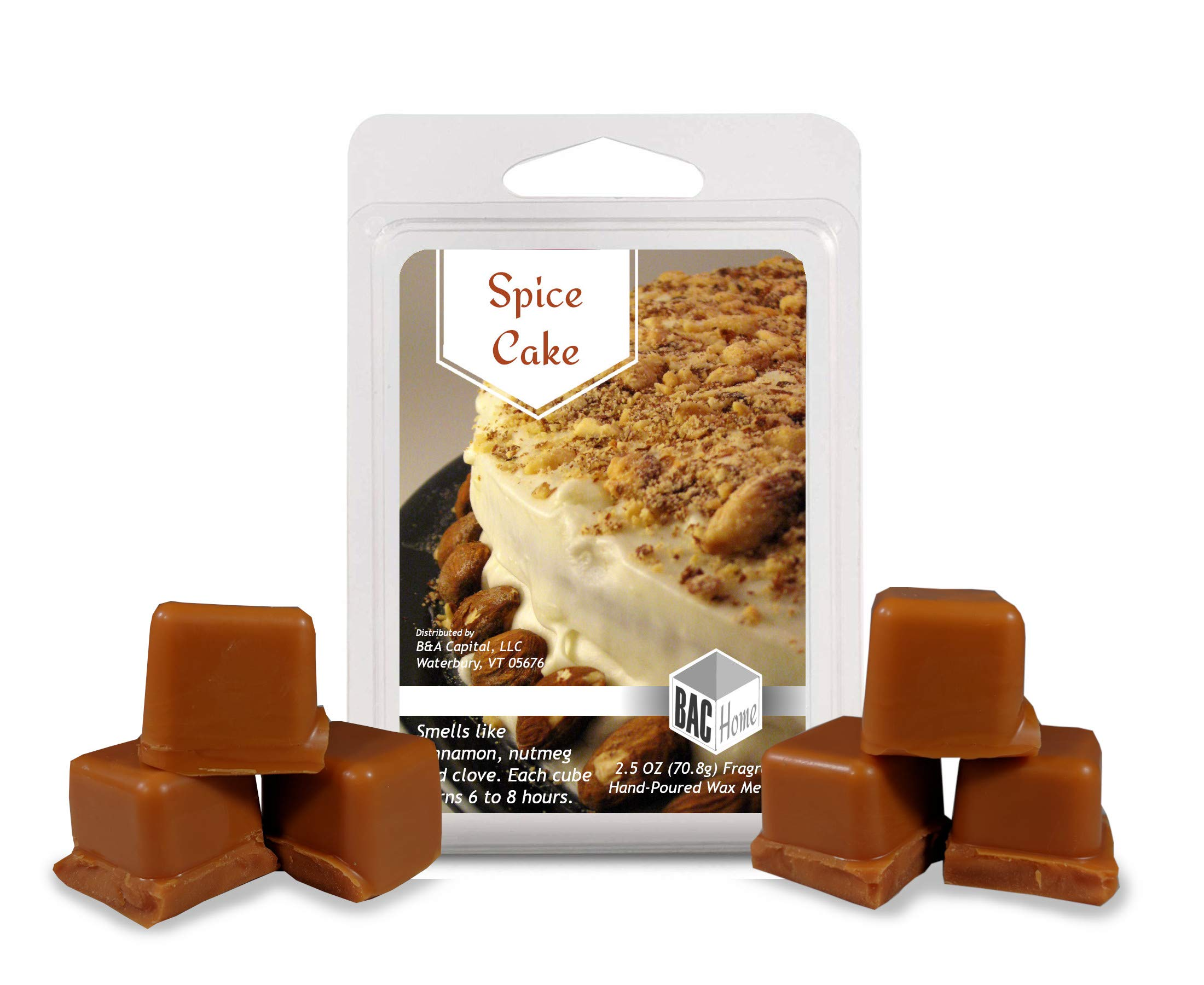 BAC Home 4 Pack - Grandma's Kitchen Collection Soy Blend Scented Wax Melts Wax Cubes, 10.0 oz, [24 Cubes] with Spice Cake, Maple Syrup, Cinnamon Buns and Mulberry Jam by BAC Home (Image #4)
