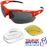 VeloChampion Tornado Sunglasses - Red