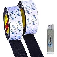CANOPUS Extra sterk kleefrug, 25,4 mm breed, 2 x 5 m lang, klittenband, zelfklevende tapijttape, zware montagetape…