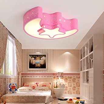 Zql Moderne Kinderzimmer Mond Acryl Deckenleuchte Stern Madchen