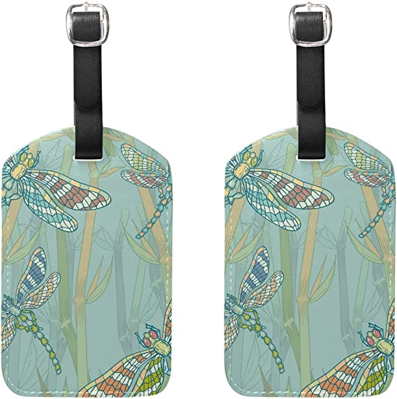 Fall Luggage Tags Suitcase Labels Bag Travel Accessories Set of 2